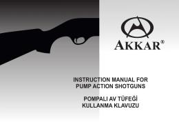 AKKAR Pump Shotgun Part Diagram 20ga & 28ga