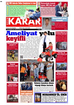 23 Haziran 2016 - Kesin Karar Gazetesi