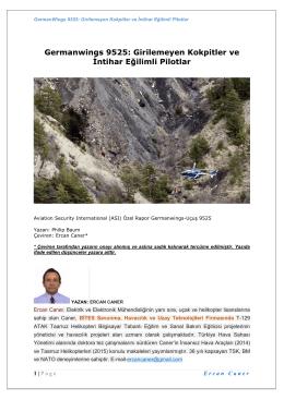 Germanwings 9525: Girilemeyen Kokpitler ve