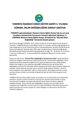 turmepa masmavi deniz eğitim kampı 5. yılında küresel iklim