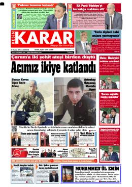 25 Haziran 2016 - Kesin Karar Gazetesi