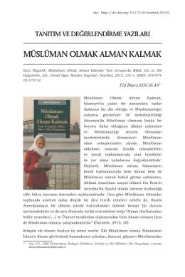 Makaleyi Yazdır - Hitit Üniversitesi Sosyal Bilimler Enstitüsü Dergisi