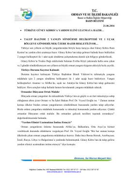 21.06.2016 • türkiye güney kıbrıs`a yardım elini uzatmaya hazır…