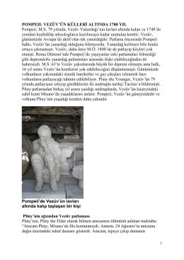 Pompeıı: Vezüv`ün Külleri Altında 1700 Yıl
