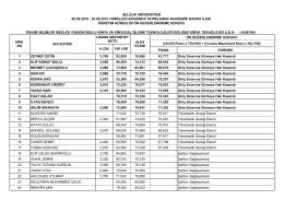 selçuk üniversitesi 06.06.2016 - 20.06.2016 tarihleri arasında