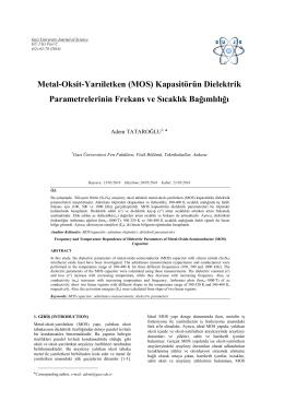 Bu PDF dosyasını indir - Gazi Üniversitesi Fen Bilimleri Dergisi Part