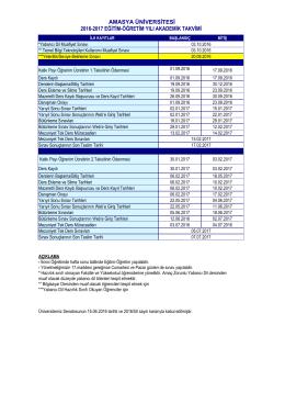 amasya üniversitesi 2016-2017 eğitim
