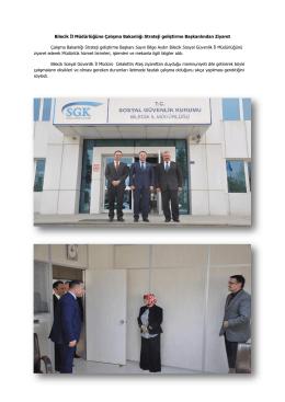 Bilecik İl Müdürlüğüne Çalışma Bakanlığı Strateji geliştirme