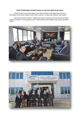 Bilecik İl Müdürlüğüne Stratejik Yönetim ve Proje Daire