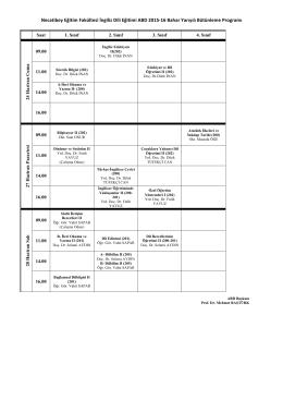Necatibey Eğitim Fakültesi İngiliz Dili Eğitimi ABD 2015