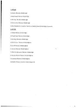 Page 1 1.BÖLGE 1.Uzunlu İlkokulu Müdürlüğü 2.Beşik kaya İlkokulu