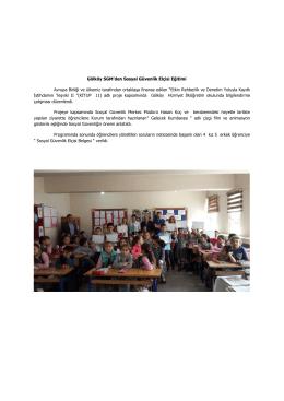 Gölköy SGM`den Sosyal Güvenlik Elçisi Eğitimi