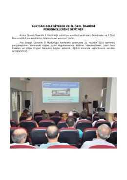 sgk`dan belediyeler ve il özel idaresi personellerine seminer