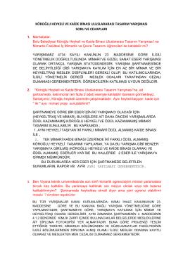 köroğlu heykeli ve kaide binası uluslararası tasarım yarışması soru