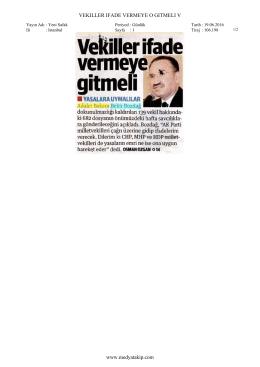VEKILLER IFADE VERMEYE O GITMELI V www.medyatakip.com