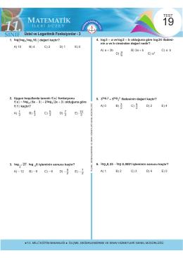Üstel ve Logaritmik Fonksiyonlar - 3