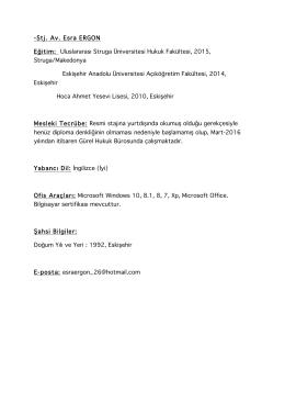 CV için tıklayınız - Gürel Hukuk Bürosu