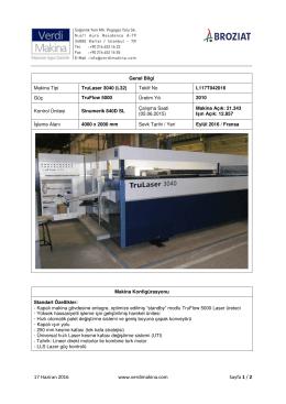 TruLaser 3040 (L32) TruFlow 5000