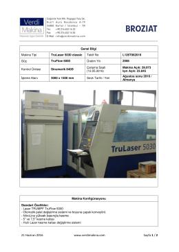 TruLaser 5030 classic TruFlow 6000