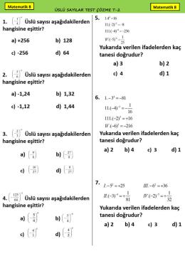 1)İlk terimi 20 ortak farkı 6 olan ve artarak devam eden bir