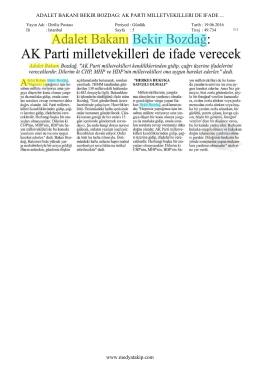 AK PARTI MILLETVEKILLERI DE IFADE www.medyatakip.com