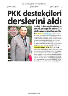PKK DESTEKÇILERI DERSLERINI ALDI www.medyatakip.com