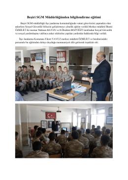 Beşiri SGM Müdürlüğünden bilgilendirme eğitimi