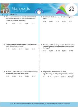 Diziler - 2 - Ölçme, Değerlendirme ve Sınav Hizmetleri Genel