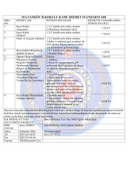 Hizmet Standartlarımız - Sultanköy İlkokulu
