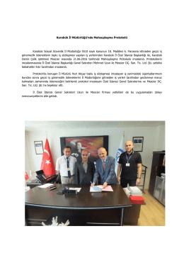 Karabük İl Müdürlüğü`nde Mahsuplaşma Protokolü