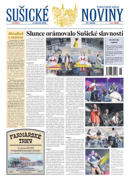 Slunce orámovalo Sušické slavnosti - sušické noviny