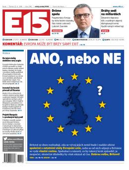komentář: Evropa můžE být brzy samý Exit / str. 13