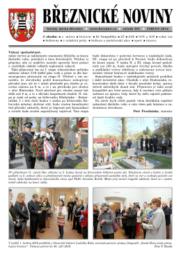 Březnické noviny 6 / 2016