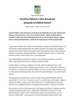 Karolína Vlčková a Sára Kousková přepsaly na Dýšině historii