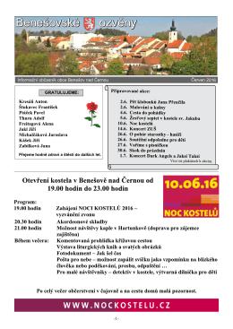 Ozvěny 6..2015 - Benešov nad Černou