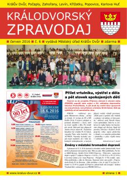 Zpravodaj 06-2016 - Město Králův Dvůr