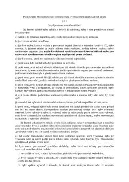 Platné znění příslušných částí trestního řádu s vyznačením