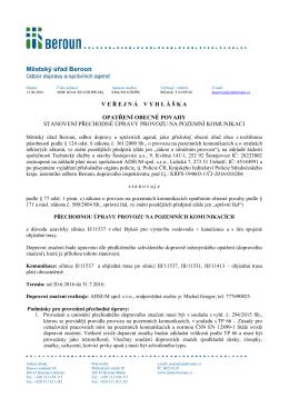 Bykoš_silnice 11537_stanovení PÚ_formou OOP_DIO uzavírka silnice