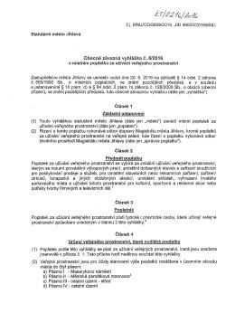 Obecně závazná vyhláška č. 5/2016