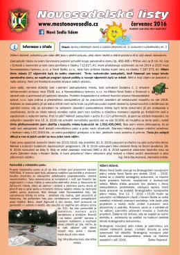 07-2016 Novosedelské listy