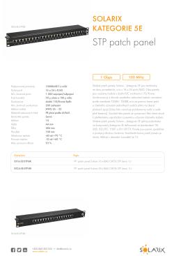 Datasheet Solarix patch panely kategorie 5E stíněné SXxx