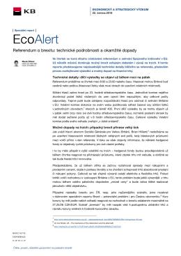 EcoAlert - FXstreet.cz
