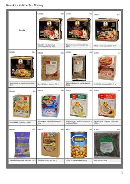 Kompletní katalog sortimentu