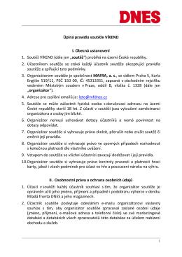 Úplná pravidla soutěže Milionová trefa