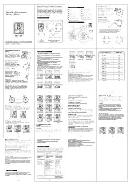 Návod k cyklocomputeru Nexelo 18 funkcí