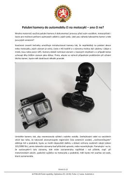 Kamery do auta a na moto - Autoklub České republiky