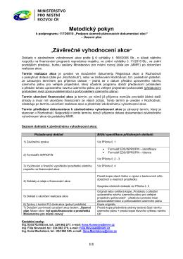 Metodický pokyn - Ministerstvo pro místní rozvoj