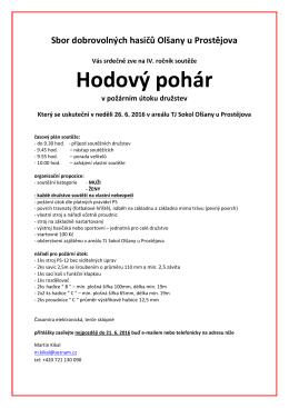 Pozvánka na soutěž mužů a žen do Olšan (26. června)