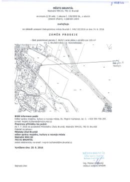 Záměr prodeje části pozemkové parcely č. 3633