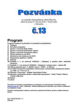 Program - Řevnice